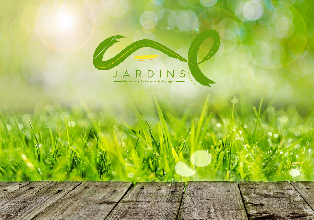 herbe logo pinceau jardin