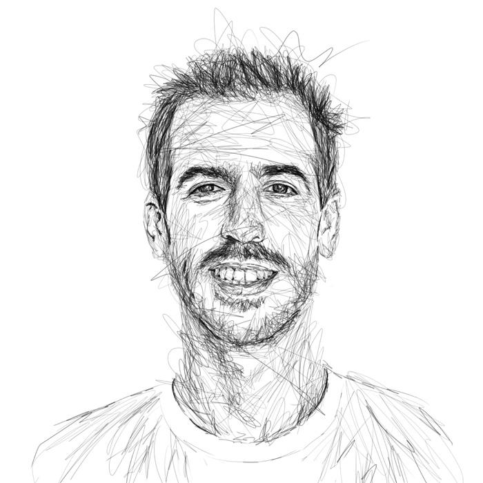 portrait dessin noir blanc