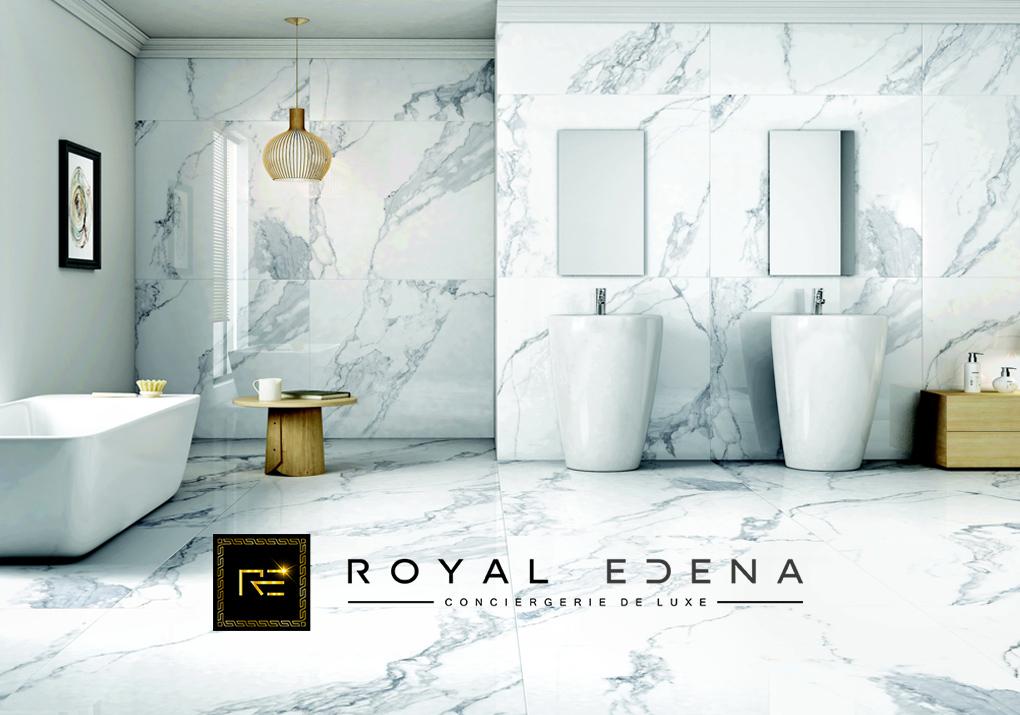 logo luxe noir or marbre